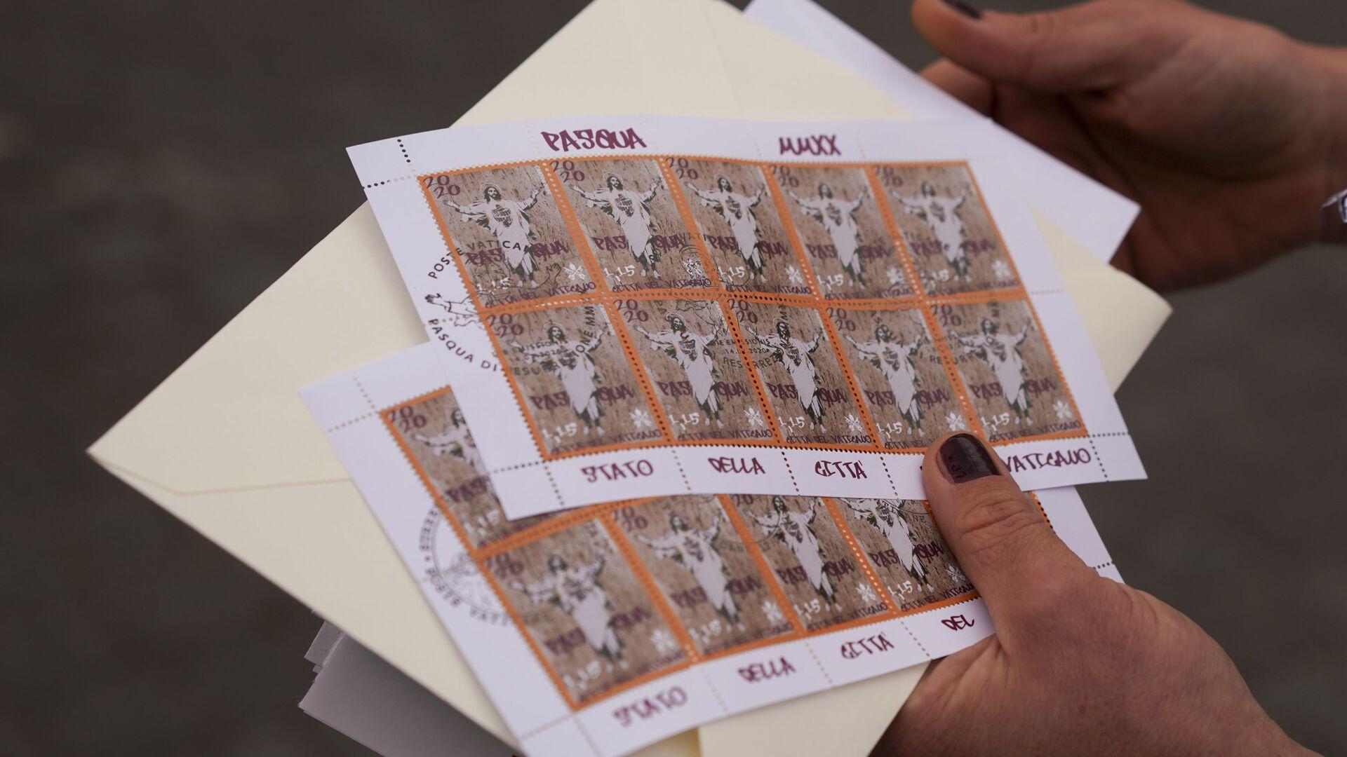 Poštovní známky s reprodukcí díla Alessie Babrow - Sputnik Česká republika, 1920, 27.05.2021