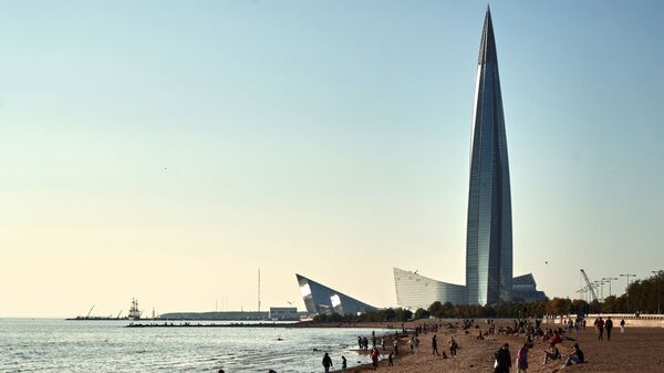 Башня многофункционального делового комплекса Лахта-центр в Санкт-Петербурге - Sputnik Česká republika