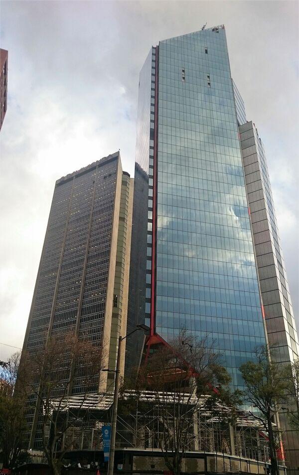 Budova Atrio North Tower v centru Bogoty v Kolumbii - Sputnik Česká republika