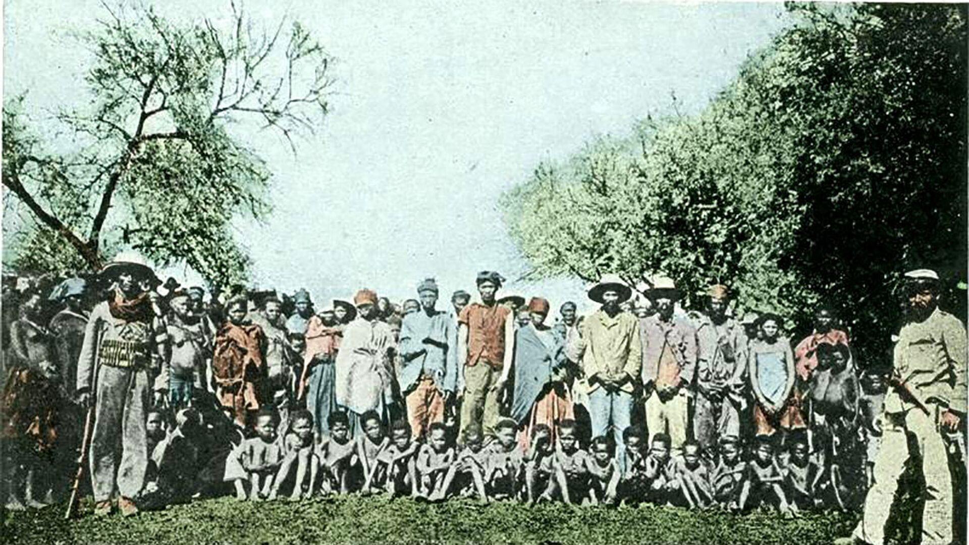 Zajatci Gerero, 1900 - Sputnik Česká republika, 1920, 28.05.2021