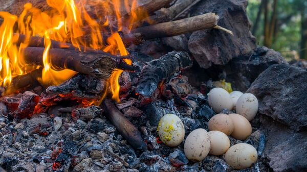 Яйца готовятся на костре - Sputnik Česká republika