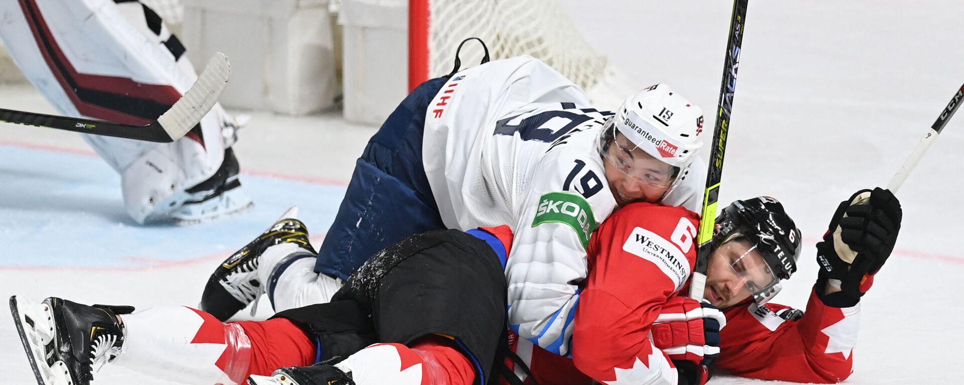 Vrchol emocí. Nejvýraznější záběry z Mistrovství světa v ledním hokeji 2021 - Sputnik Česká republika, 1920, 29.05.2021
