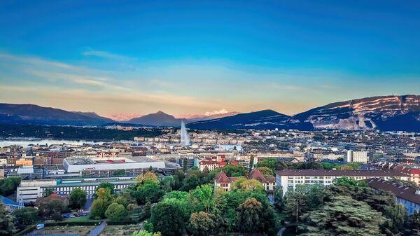 Вид на Женеву с высоты - Sputnik Česká republika