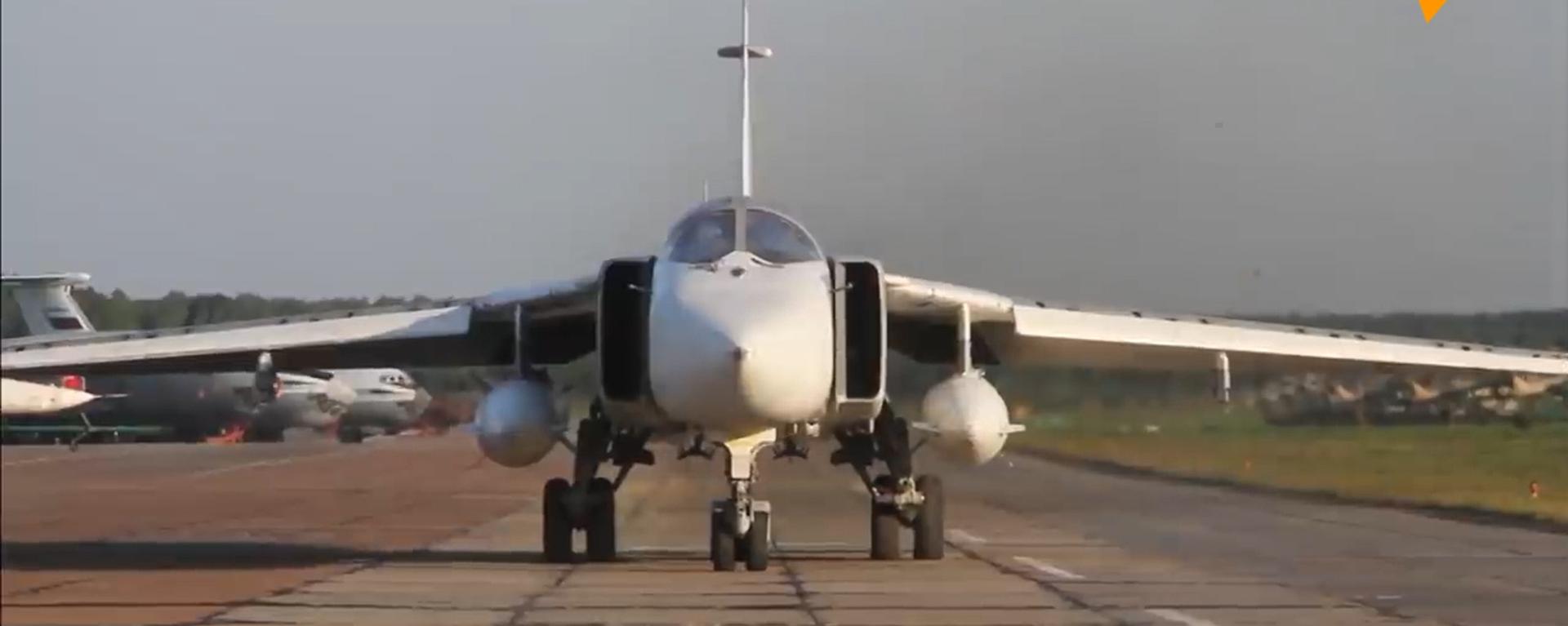 Ruské Ministerstvo obrany zveřejnilo video ničení objektů letadlem Su-34 - Sputnik Česká republika, 1920, 05.06.2021