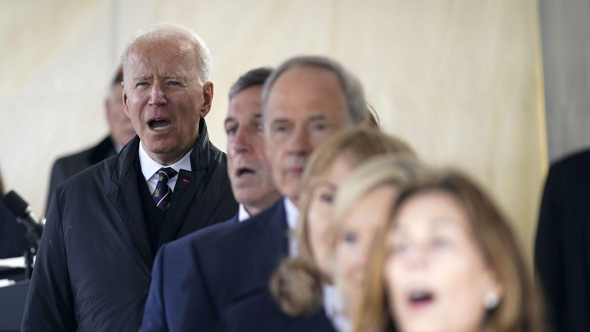 """Prezident Joe Biden zpívá """"God Bless America""""  - Sputnik Česká republika, 1920, 08.06.2021"""