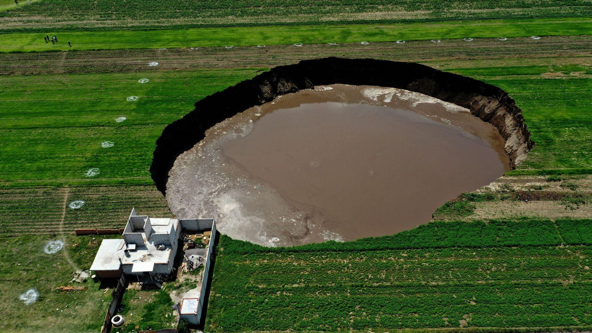 Obrovský kráter v Mexiku. - Sputnik Česká republika, 1920, 11.06.2021