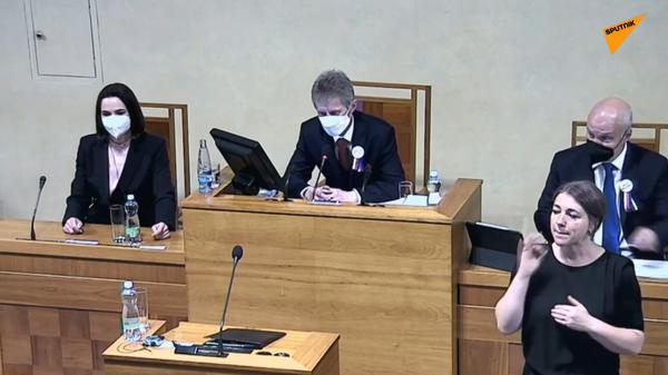 Šéfka běloruské opozice Tichanovská vystoupí v Senátu  - Sputnik Česká republika