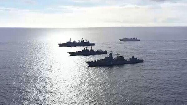 Оперативное учение разнородных сил Тихоокеанского флота в Тихом океане - Sputnik Česká republika