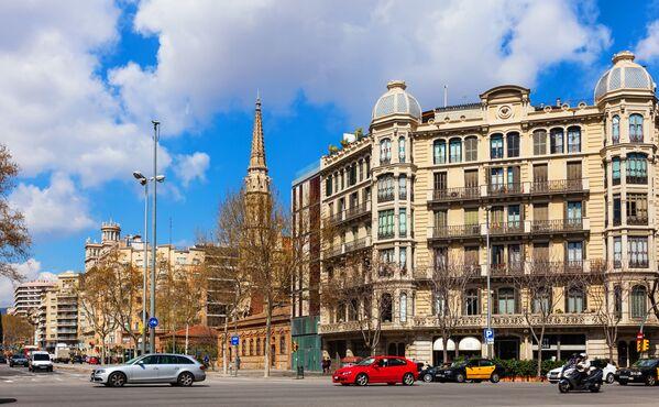 Ulice Passeig de Sant Joan v Barceloně, Španělsko - Sputnik Česká republika