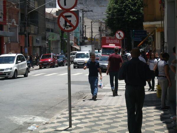 Rua Três Rios v Sao Paulu v Brazílii - Sputnik Česká republika