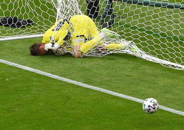 Skotský brankář David Marshall během zápasu proti České republice na EURO 2020 - Sputnik Česká republika