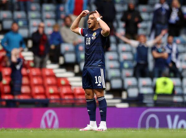 Skotský fotbalista Che Adams během zápasu proti České republice na EURO 2020 - Sputnik Česká republika