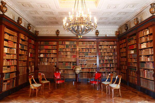 Knihovna ve vile, kde se sejdou ruský a americký prezident. - Sputnik Česká republika
