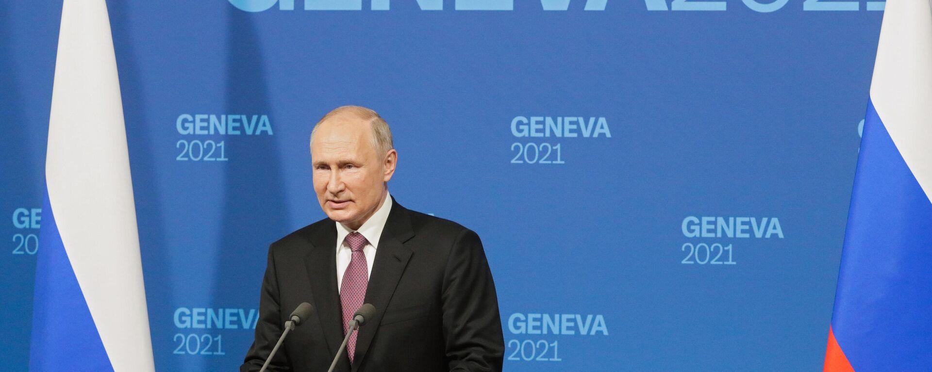 Prezident Vladimir Putin po jednání s Bidenem - Sputnik Česká republika, 1920, 20.06.2021