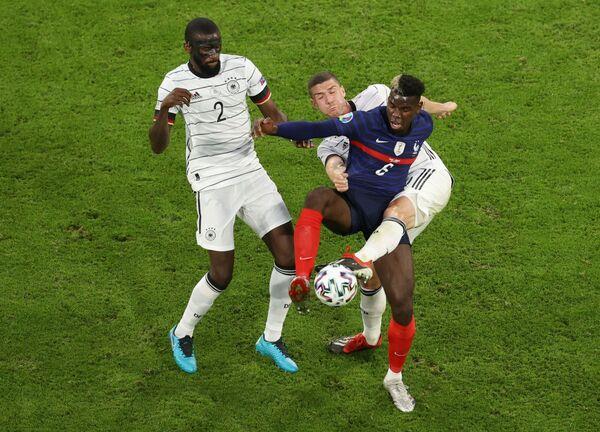 Fotbalisté Francie a Německa. - Sputnik Česká republika
