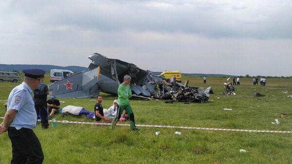 На месте крушения самолета Л-410 в Кемеровской области - Sputnik Česká republika