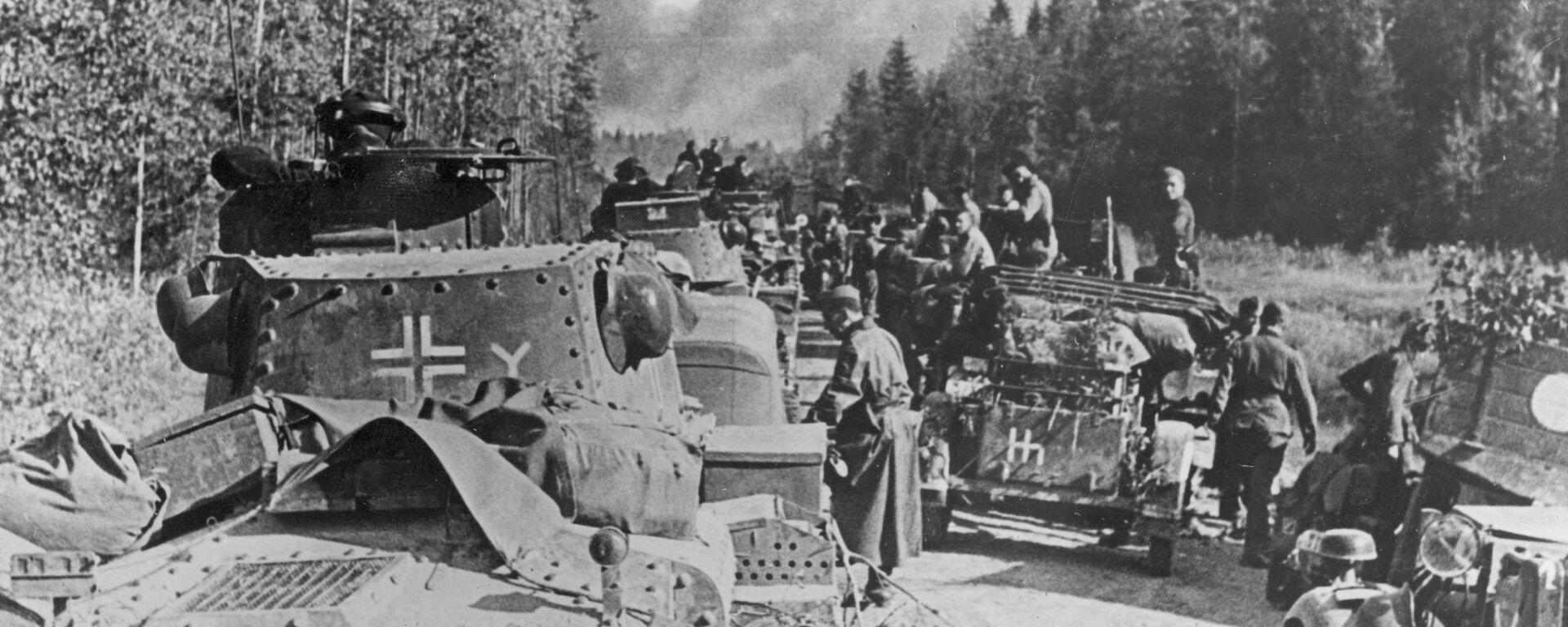 PzKpfw 38 (t) 7. tankové divize wehrmachtu během útoku na Moskvu - Sputnik Česká republika, 1920, 22.06.2021