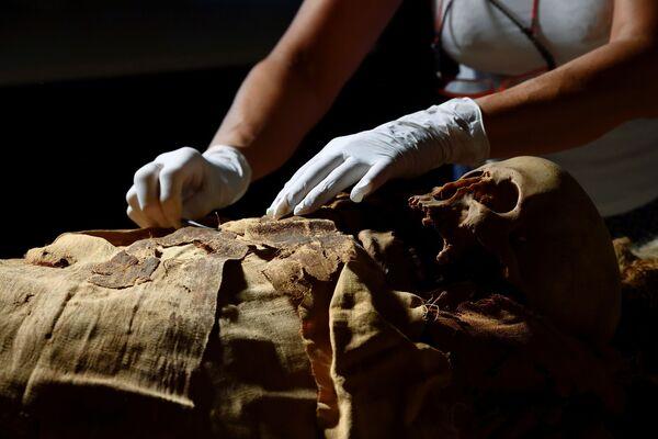 Příprava k převozu mumie z Bergama do Milána - Sputnik Česká republika