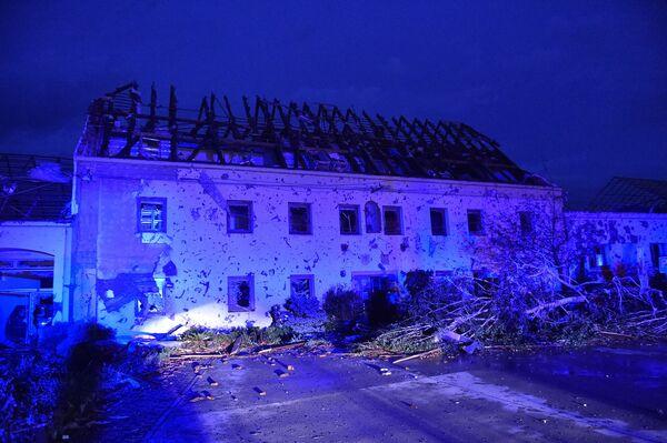 Zničený dům v městyse Moravská Nová Ves - Sputnik Česká republika