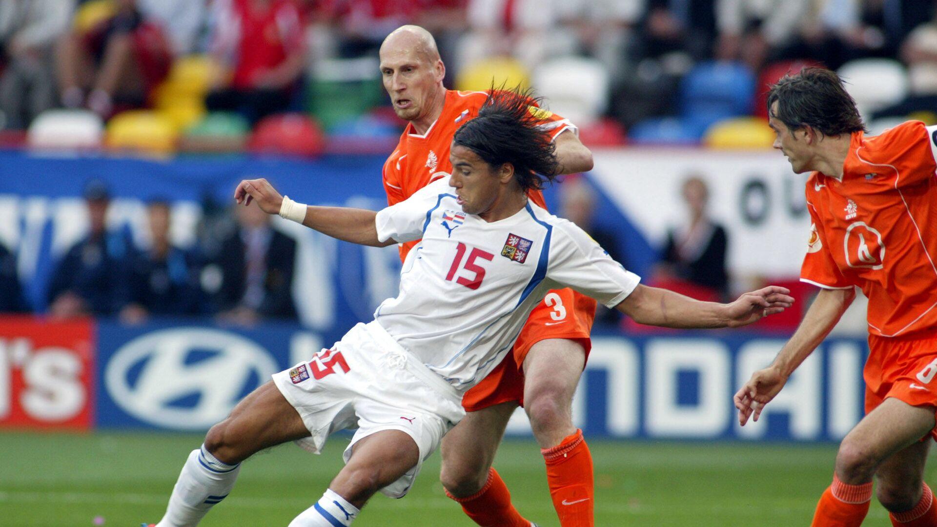 Milan Baroš při zápase proti Nizozemsku na EURO 2004 - Sputnik Česká republika, 1920, 25.06.2021