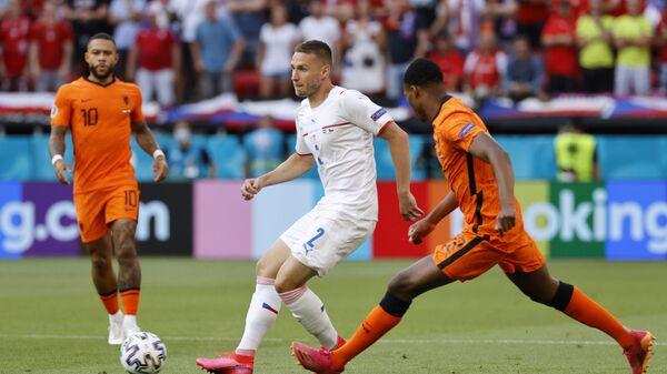 Игроки сборных Нидерландов и Чехии во время матча на Евро-2020  - Sputnik Česká republika
