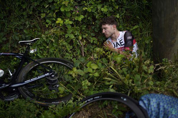 Nehoda na cyklistickém závodě Tour de France - Sputnik Česká republika