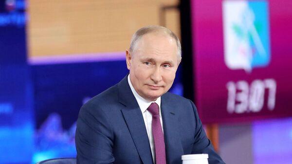 Vladimir Putin odpovídá na otázky občanů - Sputnik Česká republika