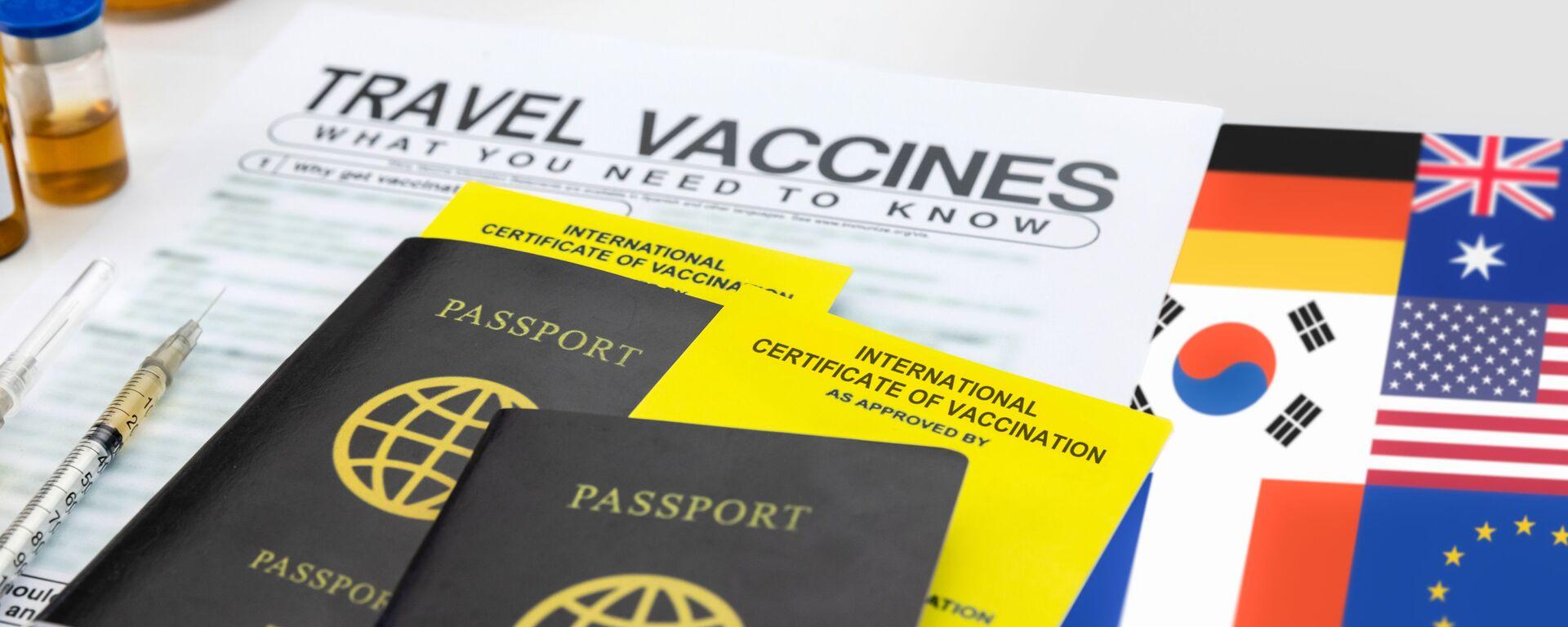 Očkovací pasy pro mezinárodní cestování - Sputnik Česká republika, 1920, 04.07.2021