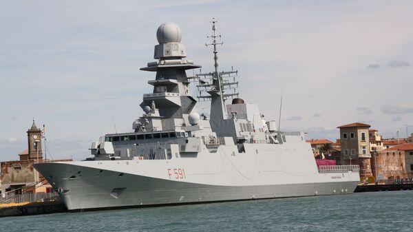 Italská fregata Virginio Fasan (F 591) - Sputnik Česká republika
