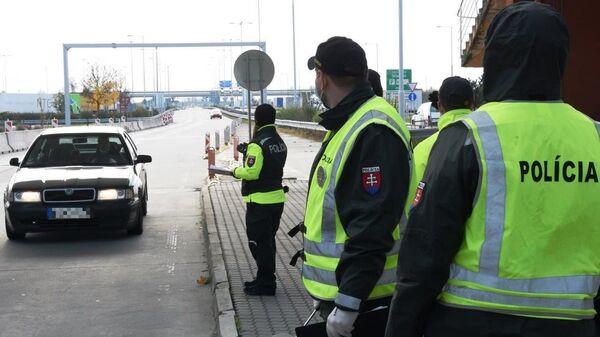 Slovenská policie na hranicích - Sputnik Česká republika