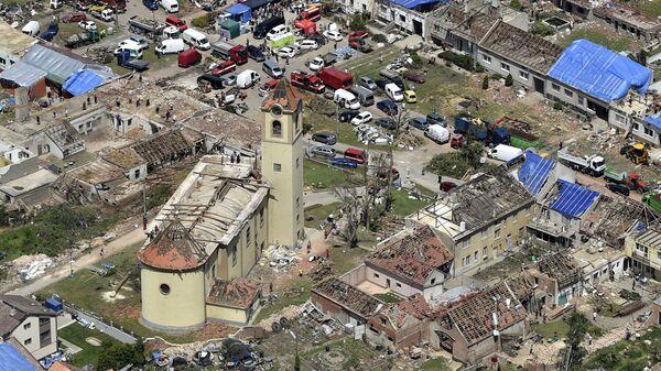 Вид с воздуха на деревню Моравска-Нова-Вес, Чешская Республика - Sputnik Česká republika