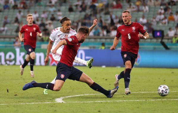 Zápas mezi Českou republikou a Dánskem na EURO 2020. - Sputnik Česká republika