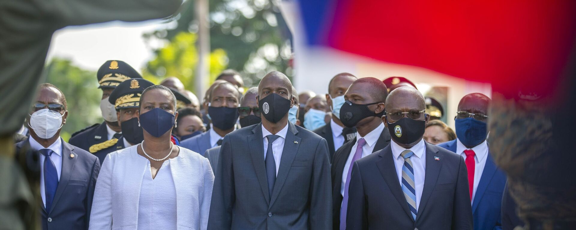 Haitský prezident Jovenel Moïse c manželkou a premiérem  - Sputnik Česká republika, 1920, 08.07.2021