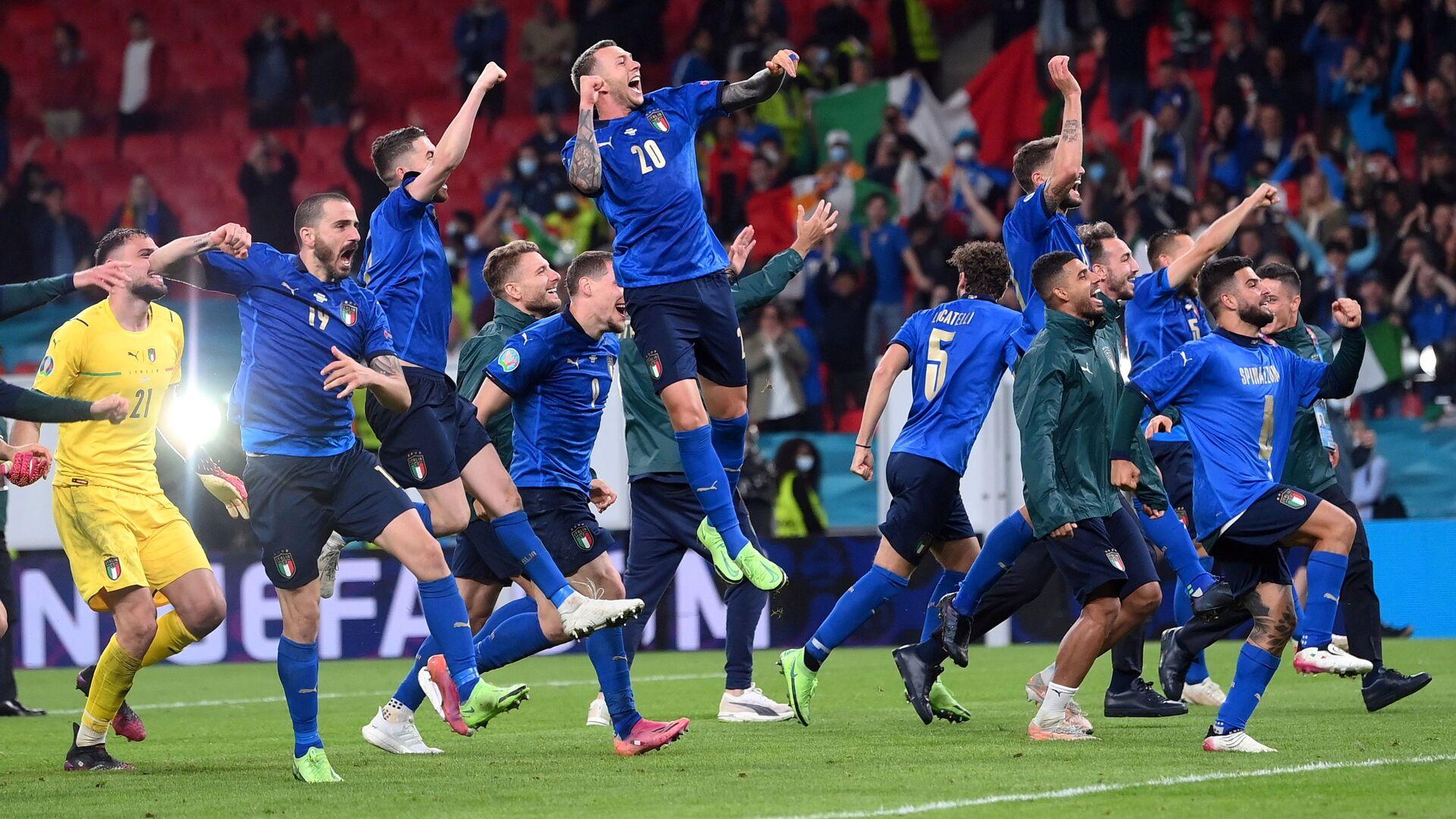 Hráči italské reprezentace, Euro 2020. - Sputnik Česká republika, 1920, 11.07.2021
