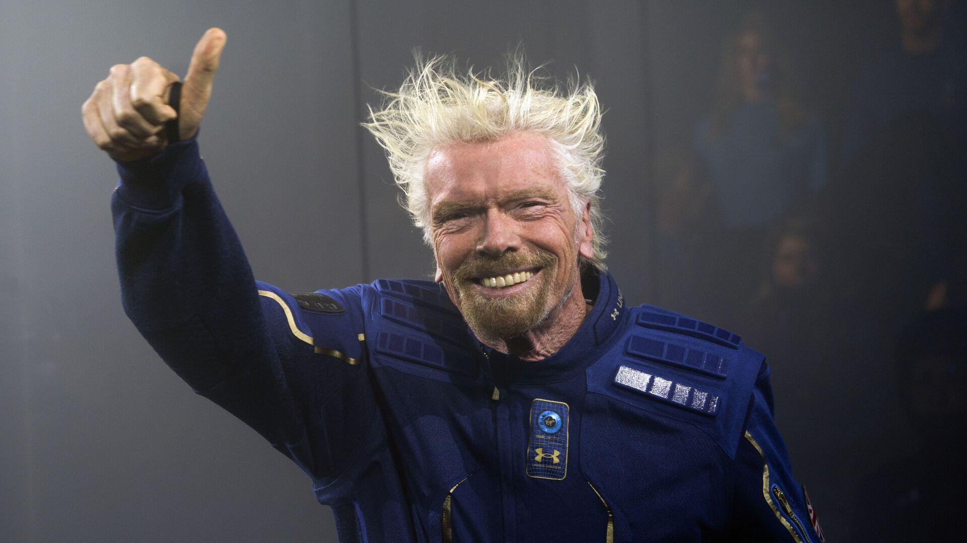 Zakladatel společnosti Virgin Galactic Richard Branson se připravuje na svůj první vesmírný let - Sputnik Česká republika, 1920, 11.07.2021
