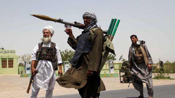 Bývalí mudžahedíni, kteří pomáhali afghánské armádě v boji proti Talibanu - Sputnik Česká republika