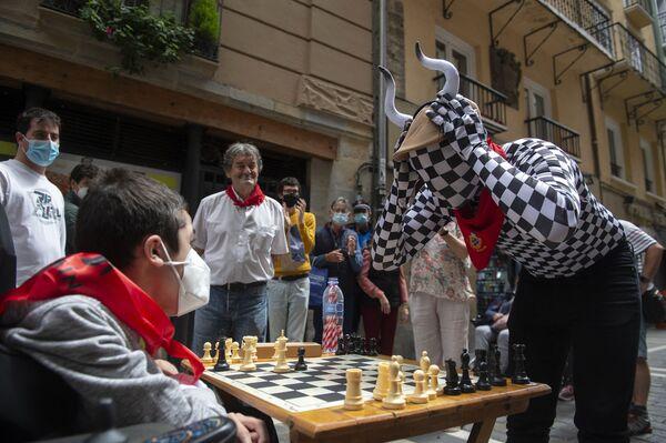 Turnaj Chess Run ve španělské Pamploně. - Sputnik Česká republika