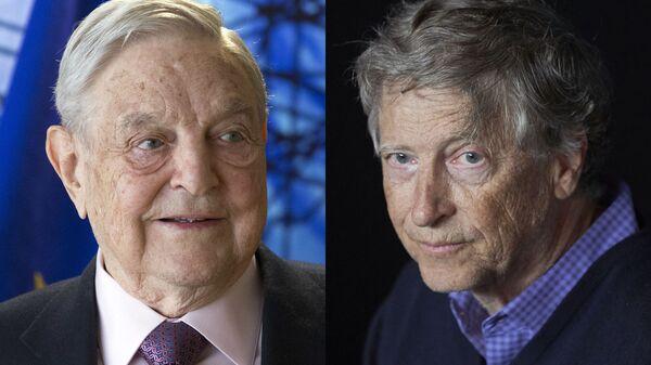 Американский трейдер Джордж Сорос (слева) и предприниматель Билл Гейтс - Sputnik Česká republika