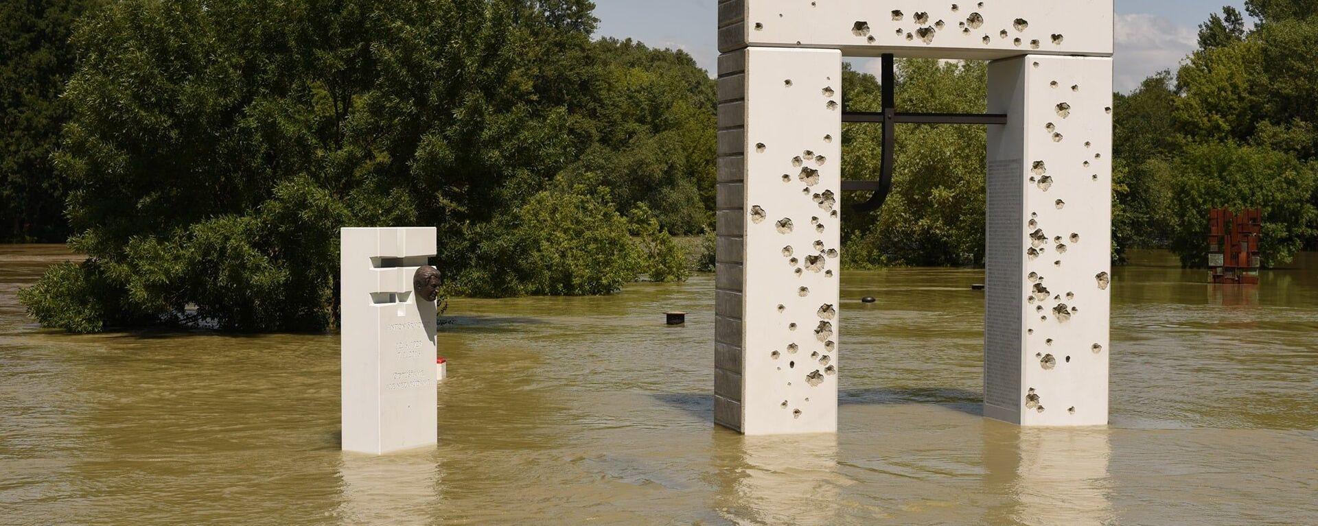 V pondělí stoupla hladina řeky Dunaj v Bratislavě - Sputnik Česká republika, 1920, 19.07.2021