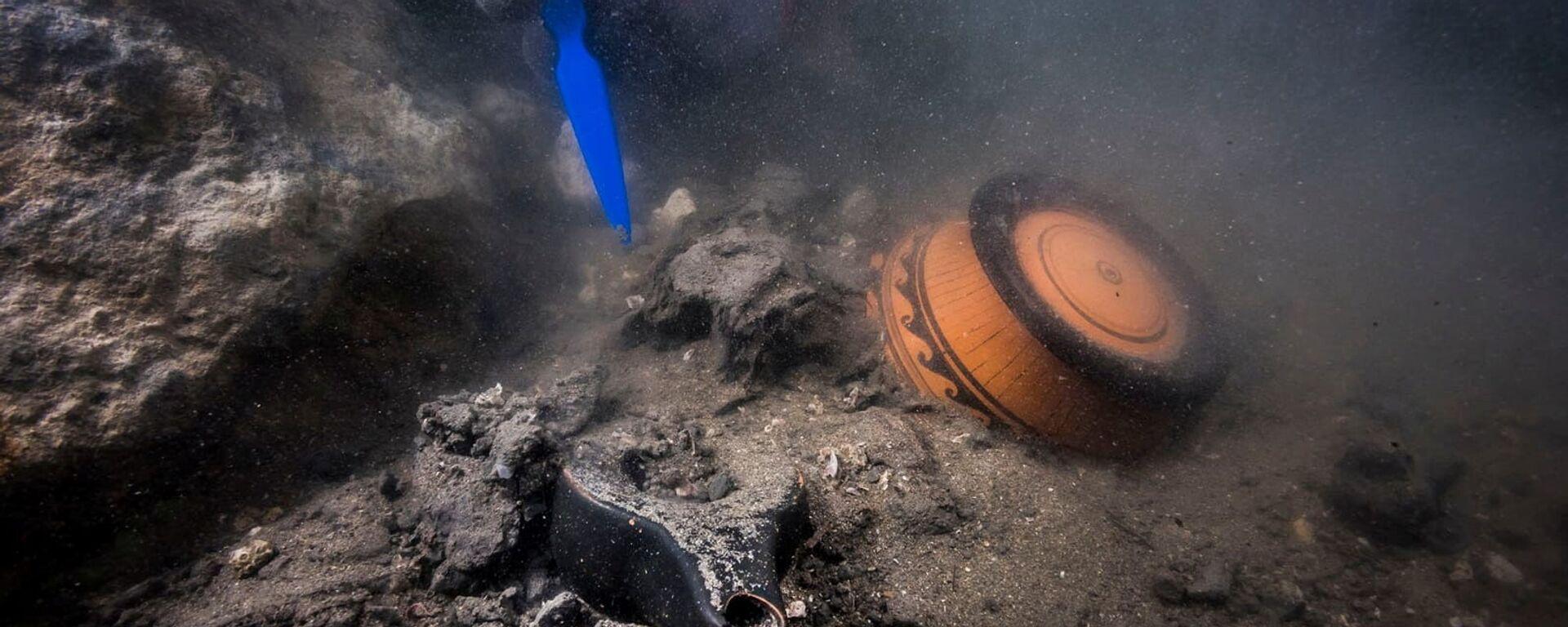 Trosky starověké vojenské lodi v Egyptě - Sputnik Česká republika, 1920, 21.07.2021