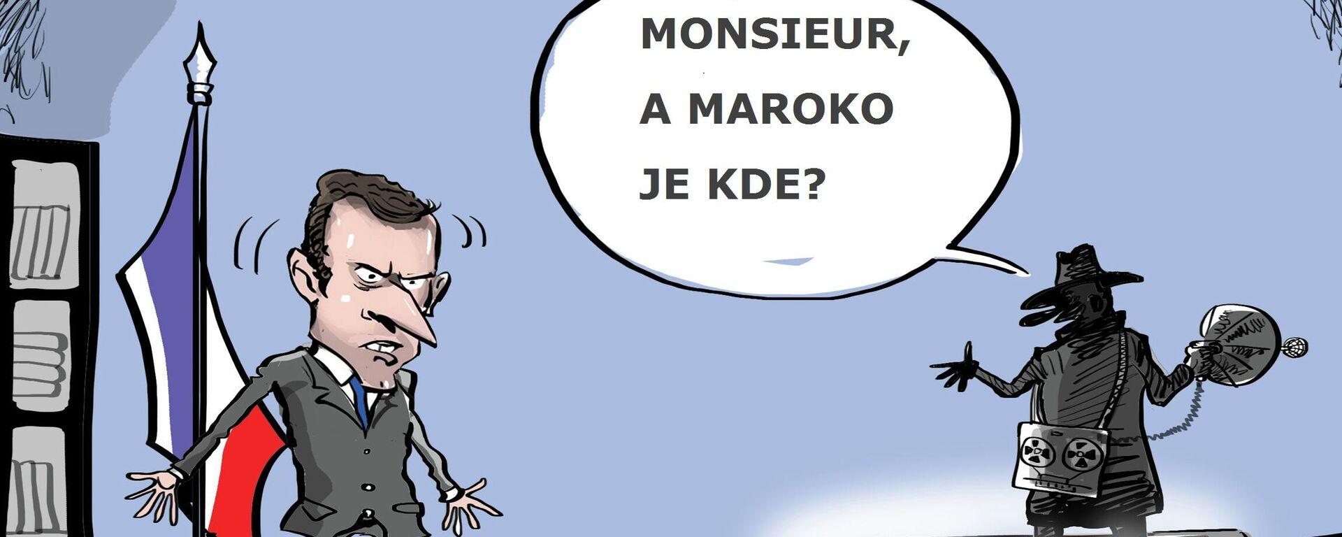 Média informovala o riziku hacknutí Macronova telefonu marockými zpravodajskými službami - Sputnik Česká republika, 1920, 21.07.2021