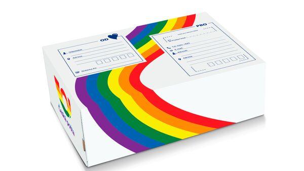 Радужная упаковка почтовой посылки почты Чехии, выпущенная в поддержку Prague Pride  - Sputnik Česká republika