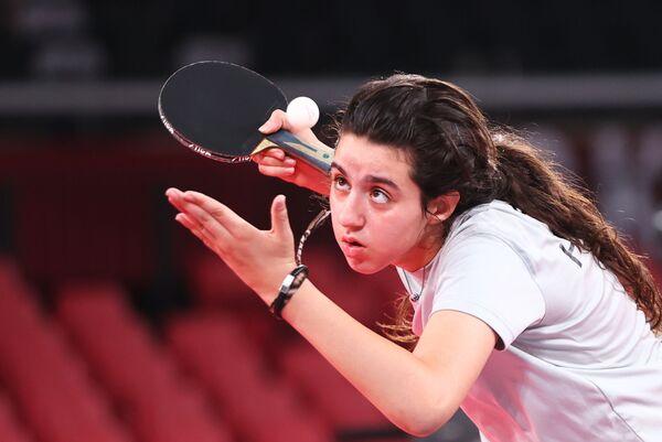 Syrská stolní tenistka Hend Zaza (12). - Sputnik Česká republika
