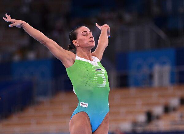 Sovětská, uzbecká a německá sportovní gymnastka Oksana Čusovitinová (46). - Sputnik Česká republika