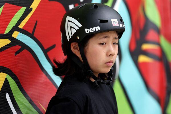 Japonská skateboardistka Misugu Okamoto (15). - Sputnik Česká republika