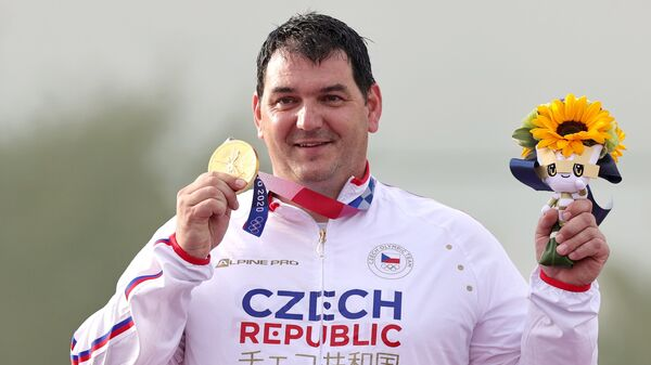 Чешский стрелок Иржи Липтак выиграл в стендовой стрельбе в трапе на Олимпиаде 2020 в Токио - Sputnik Česká republika