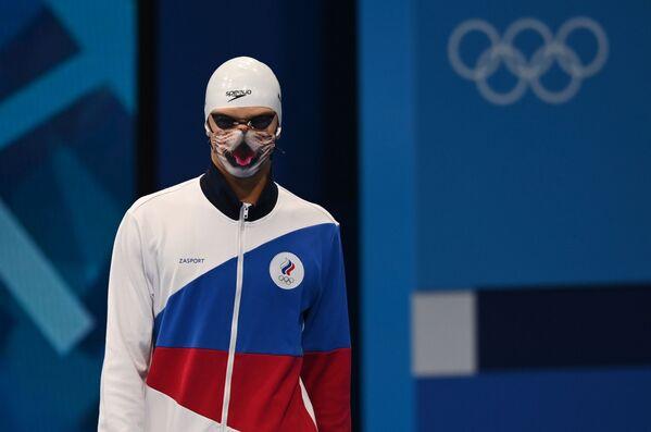 Ruský plavec Jevgenij Rylov před startem ve finálové znakařské stovky na olympijských hrách - Sputnik Česká republika