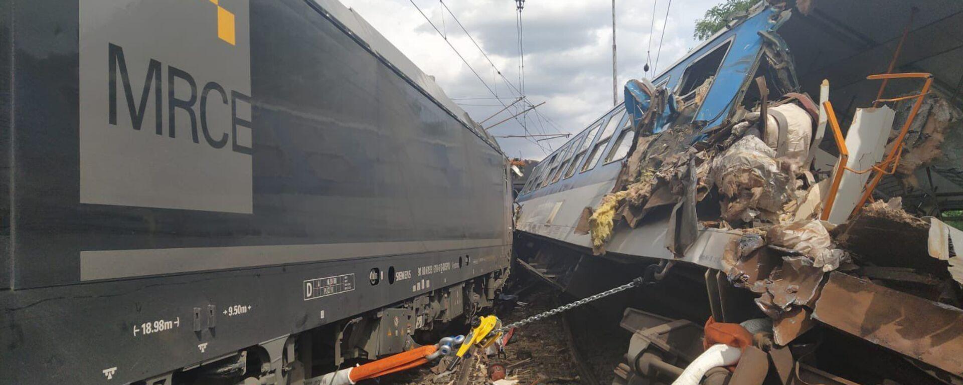V Němčicích nad Hanou na Prostějovsku se srazila lokomotiva s osobním vlakem. - Sputnik Česká republika, 1920, 31.07.2021