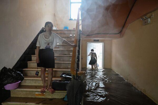 Zaplavený In-fa hotel v Číně v důsledku tajfunu. - Sputnik Česká republika