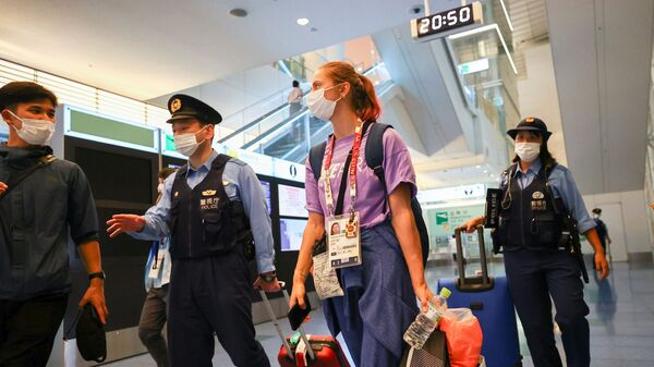 Белорусская легкоатлетка Кристина Тимановская в аэропорту Ханэда в Токио - Sputnik Česká republika